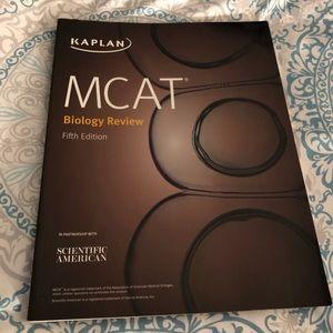 Kaplan MCAT Biology Review paperback textbook